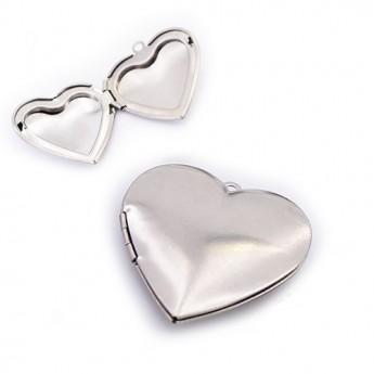 Ocelový přívěšek - srdce otevírací