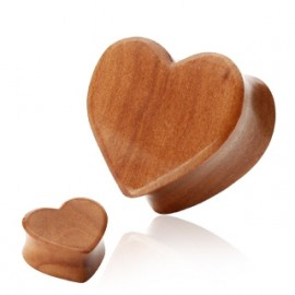 Cherry Wood plug - srdce