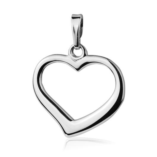 Stříbrný přívěšek srdce