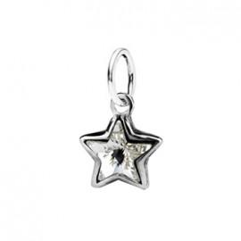 Stříbrný přívěšek s hvězdičkou Crystals from SWAROVSKI®, barva: Crystal