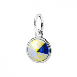 Stříbrný přívěšek s kamenem Crystals from SWAROVSKI®, barva: Crystal AB