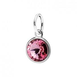 Stříbrný přívěšek s kamenem Crystals from SWAROVSKI®, barva: Light Rose