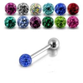 Piercing do jazyka s krystaly Swarovski®