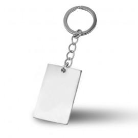 Ocelový přívěšek na klíče - destička