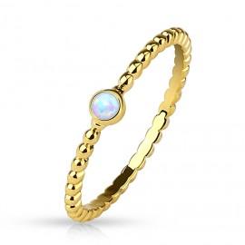Zlacený prsten s opálem