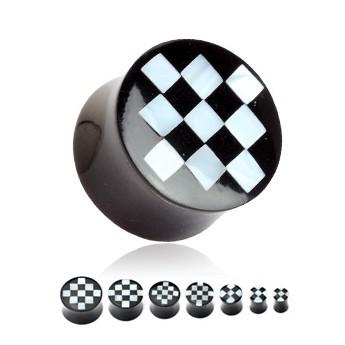 Rohovinový plug - šachovnice