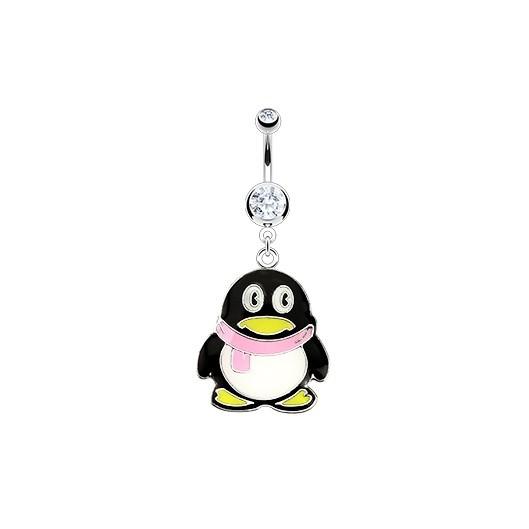 Piercing do pupíku - tučňák