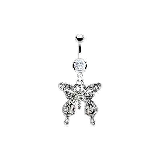 Piercing do pupíku - motýl