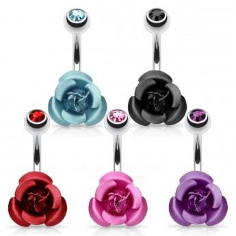 Piercing do pupíku - růžička