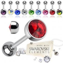 Piercing do jazyka zdobený kamínkem Swarovski®
