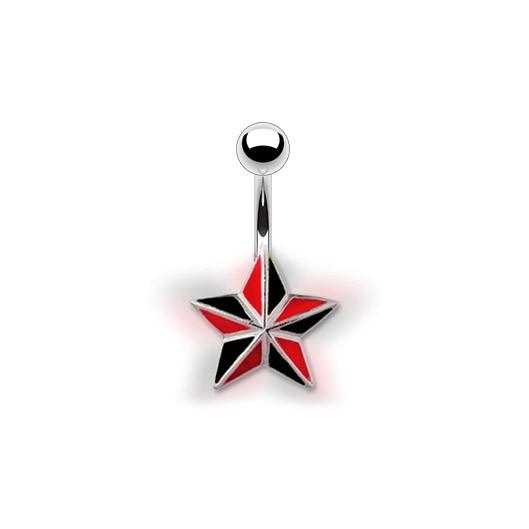 Piercing do pupíku - hvězda