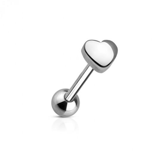 Piercing do jazyku - srdce