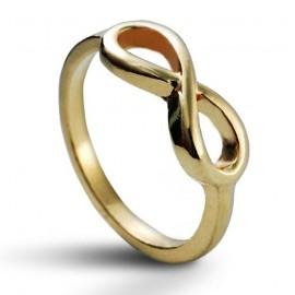 Prsten INFINITY - nekonečno zlacený, vel. 52