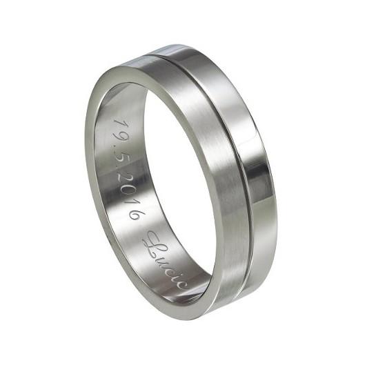 Služba diamantové rytí do prstenu z oceli/titanu
