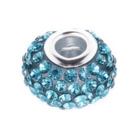 Pavé přívěšek - korálek s TURQUISE krystaly