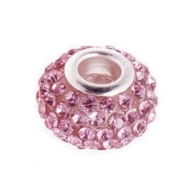 Pavé přívěšek - korálek s ROSE krystaly