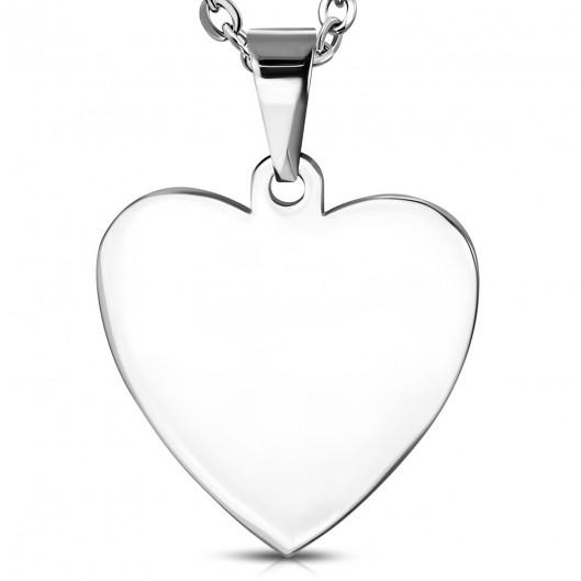 Ocelový přívěšek srdce