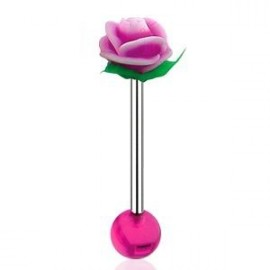 Piercing do jazyka - růže
