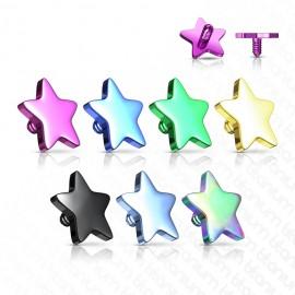 Microdermal - ozdobná část - hvězda