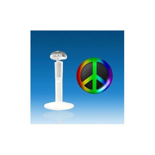 "Piercing do brady - labreta ""peace"""