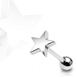 Piercing do jazyka - hvězda