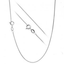 Stříbrný řetízek - čtvercový, tl. 0,8 mm, délka 38 cm