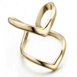 Dvojitý prsten hroty - zlacený