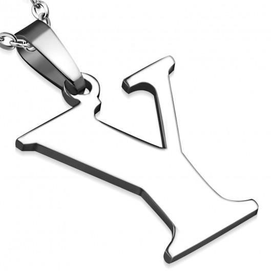 Ocelový přívěšek - písmeno - iniciála Y