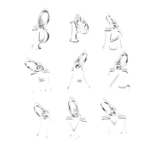 Stříbrný přívěšek písmeno - iniciála M