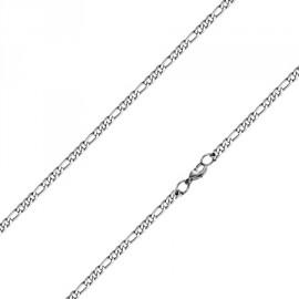 Ocelový řetízek figaro, tl. 4 mm