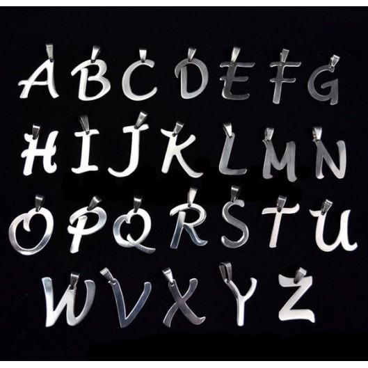 Ocelový přívěšek - písmeno - iniciála