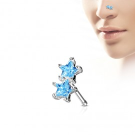 Piercing do nosu kytička - opál
