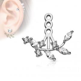 Zanáušnice - ozdobná část k puzetové náušnici na levé ucho