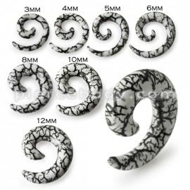 Roztahovák do ucha akrylát - hadí dekor