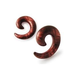 Roztahovák do ucha akrylát - dřevěný dekor