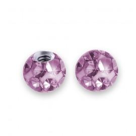 Náhradní kulička s krystaly Swarovski®, 3 mm, závit 1,2 mm, barva světle fialová