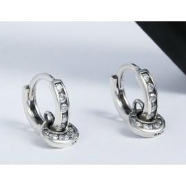Stříbrné náušnice kroužky s ozdobou