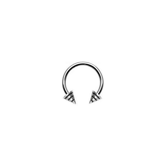 Piercing - podkova - černé proužky