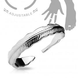 Stříbřený prsten na nohu