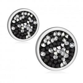 Ocelové náušnice s krystaly Crystals from Swarovski®, PEPPER