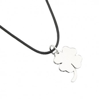 Ocelový náhrdelník se čtyřlístkem