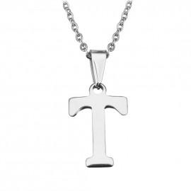 """Ocelový řetízek s přívěškem iniciála """"T"""""""