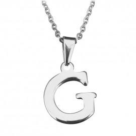 """Ocelový řetízek s přívěškem iniciála """"G"""""""