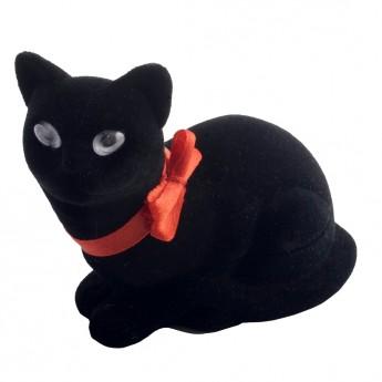 Dárková krabička semiš - kočka