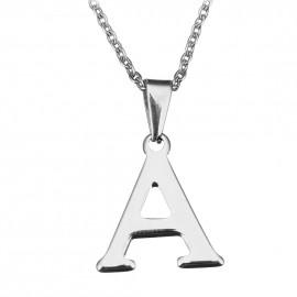 """Ocelový řetízek s přívěškem iniciála """"A"""""""