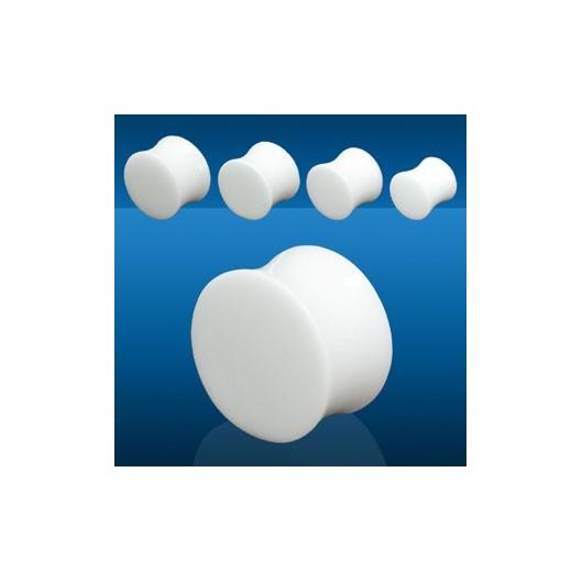 Plug do ucha - bílý kámen