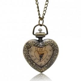 Retro kapesní hodinky - srdce