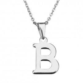 """Ocelový řetízek s přívěškem iniciála """"B"""""""