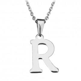 """Ocelový řetízek s přívěškem iniciála """"R"""""""