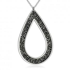 Ocelový náhrdelník s krystaly Crystals from Swarovski®, GREY METALISEÉ